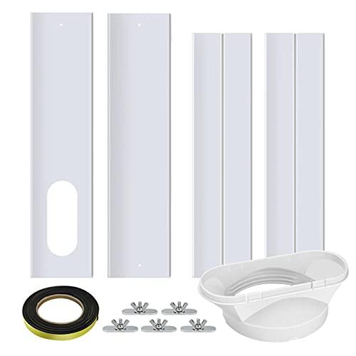 WUSHUN Adaptador de ventana, tubo de salida de aire para aire acondicionado portátil, placa de sellado de ventanas para dispositivos de aire acondicionado, ventana ajustable, placa para tubo de escape
