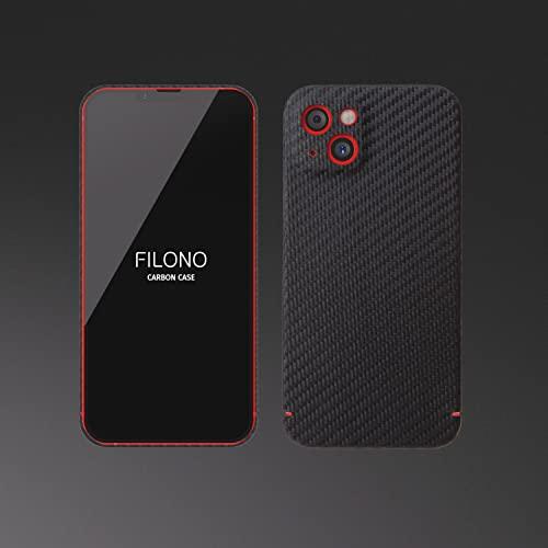 FILONO iPhone 13 Mini Hülle Carbon, ultradünn, hochwertig, schwarz-matt-chic