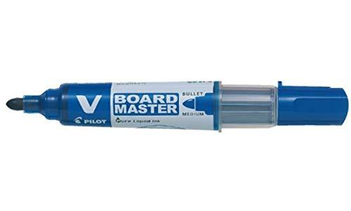 Pilot 386732 V Board Master - Rotulador para pizarra blanca, punta redonda, color azul