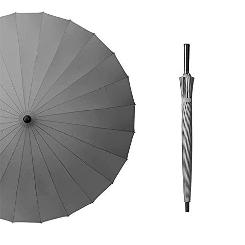 Gerader Golf-Werbe-Schirm mit langem Griff, 24 Knochen, Business Super Geschenk, Regenschirm, Regen und Regenschirm, schnell trocknend (Regenschirm)