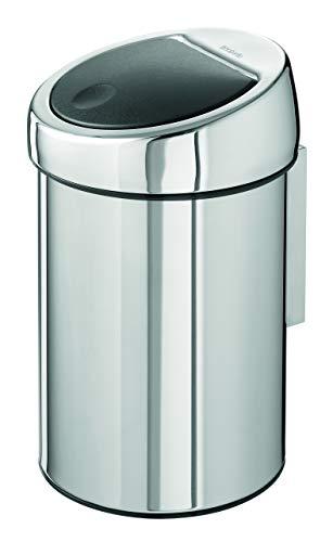 Touch Bin 3 L mit Kunststoffeinsatz / Brilliant Steel