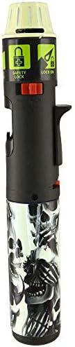 Designer Glow in The Dark Turbo Blue Multi Purpose Refillable Butane Torch Lighter Stick Wind product image