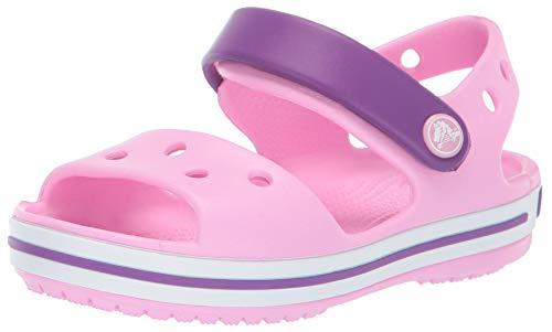 Crocs Crocband Sandal Kids, Sandalias Unisex Niños, Rosa...