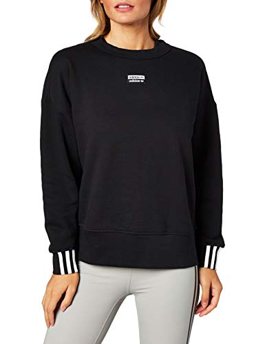 Adidas Damen VOCAL SWEAT Sweatshirt, Schwarz,DE: 38
