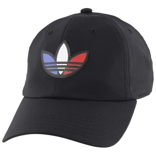 adidas Originals Men's Tri Color Relaxed Fit Strapback Cap, Black, One Size