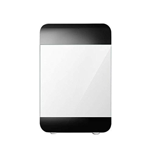 RTYUI Mini Nevera para Coche De 20L, Función De Frío Y Calor, Vidrio Templado.Entrada Doble AC + DC, Portátil Y Compacto, Funcionamiento Silencioso (285X330X410Mm) Blanco Y Negro