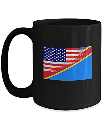 N\A USA Demokratische Republik Kongo Flagge 11oz Black Coffee Mug Tea Cup