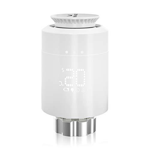 Smartes Heizkörper-HOSMART Thermostat Kit Intelligente Heizungssteuerung, Einfach selbst zu installieren, Heizung manuell steuern und einstellen (1 Heizkörper-Thermostat ohne Gateway)