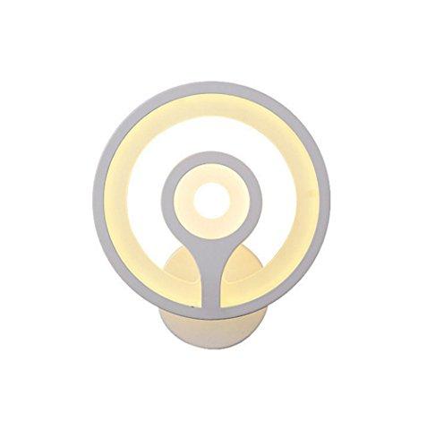 JJZHG Wandlamp, waterdicht, wandverlichting, wandlamp, creatief nachtlampje, warm, rond 12 W, warm licht, bevat: wandlamp, stoere wandlampen, wandlampen, design