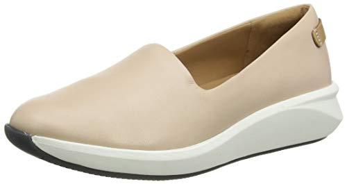 Clarks Un Rio Step, Zapatillas sin Cordones para Mujer, Azul (Blush Leather Blush Leather), 41 EU