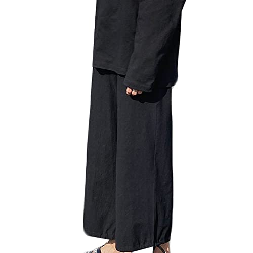 Feidaeu Pantaloni Casual per Il Tempo Libero per Uomo Pantaloni semplici e Sottili a Gamba Larga Pantaloni da Jogging Larghi all'aperto Comodi Pantaloni Corti