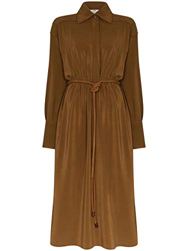 Luxury Fashion | Fendi Dames FDA816A5Z5F1AKQ Bruin Zijde Jurken | Lente-zomer 20