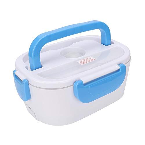 Duokon Lunch Box Riscaldamento Elettrico, scaldabiberon Elettrico a Doppio Strato Portatile scaldavivande per Alimenti per la casa 40W (Blu)(EU 220V)