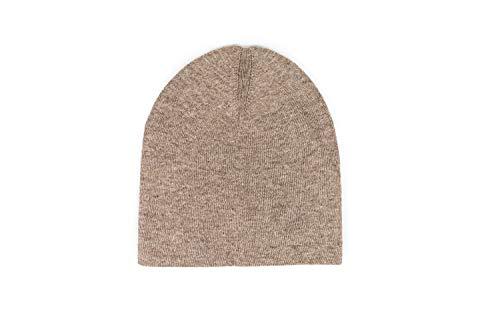 Annapurna Cashmere Edle Kaschmir Mütze aus 100% Kaschmirwolle, Handgewebt aus Nepal für Damen und Herren, Zimt/braun