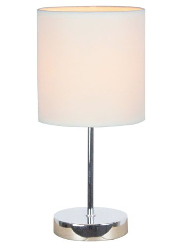 Simple Designs LT2007-WHT Mini Basic Table Lamp, White