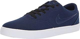 NIKE Men's SB Check Solarsoft Canvas Skate Shoe (7.5, Blue Void/Blue Void-Black)