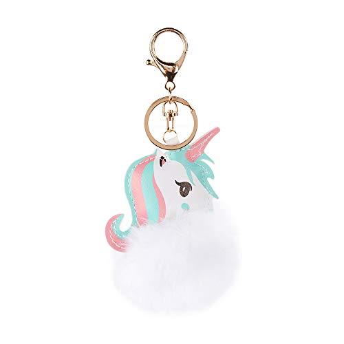changshuo Juguete de Peluche Lovely Unicorn Plush Toy Faux Rabbit Fur Ball Pompom Peluche para Niños Mini Cute Toy Gift