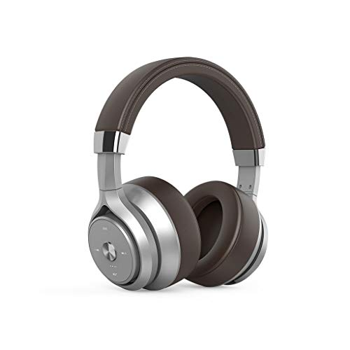 Wireless Headset Headset Bluetooth Heavy Bass Quad-core Dual-action Coil Noise Reduction Lego Sound Quality Lossless Headset Full-inclusive Ear Phone Computer For Huawei Apple Xiaomi ( Color : Brown )