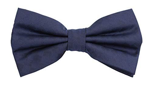 Fabio Farini - Elégant nœud papillon à carreaux pour hommes pour toutes les occasions comme le mariage, la confirmation, le bal Bleu foncé