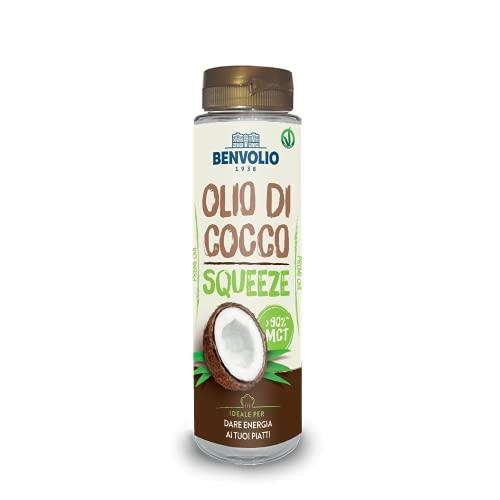 BENVOLIO 1938 Aceite de Coco Líquido Squeeze MCT Oil - 250 ml - Dieta Paleo Aceite MCT KETO Perfect Keto Cafe Diet Cetogenica Comida Aceite de Coco para el Cabello Aceite de Coco...