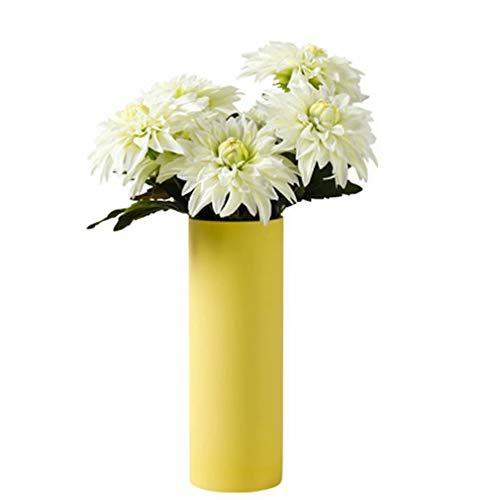 YUDSUKI 花 造花 フラワー 白 ホワイト ダリア 花瓶セット 花束 撮影 テーブル飾り 置物 装飾 家庭 お店 オフィス お祝い プレゼント ギフト