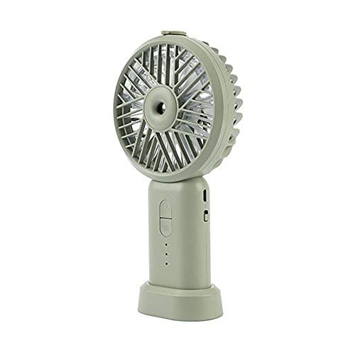 DFJU Ventilador de pulverização portátil de 2000MAh elétrico USB recarregável com Ventilador portátil de refrigeração umidificador de ar condicionado (Cor: Verde)