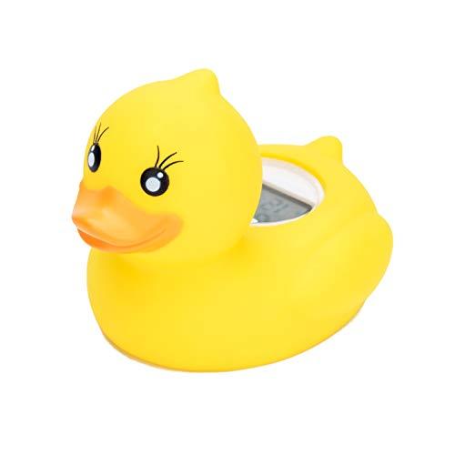 Thermomètre bain bébés,Canard de bain Thermomètre de bain Jouet de bain Thermomètre Numérique avec alarme LED Convient Pour Baignoire/Piscine/Intérieur