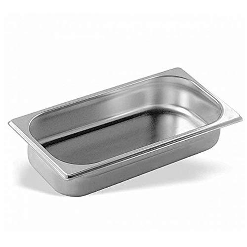 Cubeta Acero Inoxidable GN Gastronorm 1/3 (Profundidad 20mm) (Dimensiones 325x175mm) · Esquinas Redondeadas · Resiste hasta 260 ºC
