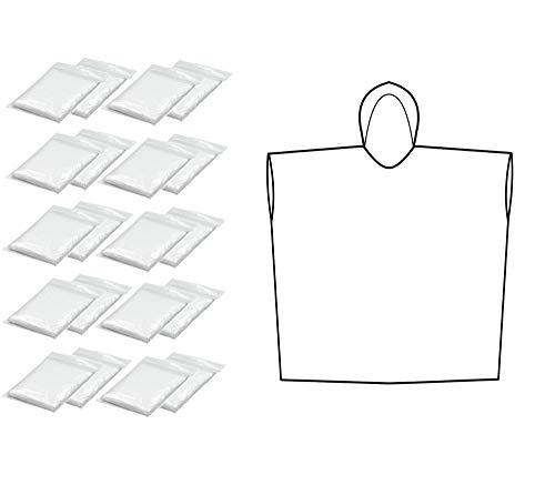 Thorani Regenponcho für Damen, Herren & Kinder 140-190 cm – kompakt und leicht - 20er Pack