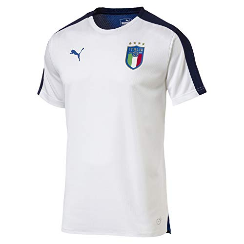 PUMA FIGC Italia Stadium SS Jersey, Hombre, Blanco (White/Team Power Blue), M