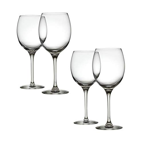 Alessi Mami XL | SG119/1S4 Weißweingläser aus Kristallglas, 4 Stück