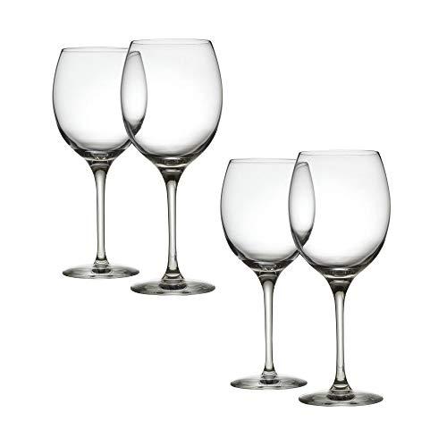 Alessi Mami XL | SG119/1S4 - Set di 4 Bicchieri per Vini Bianchi in Vetro Cristallino
