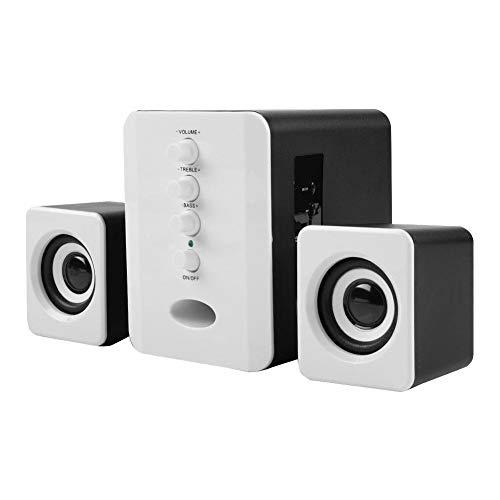 Altavoz Bluetooth para computadora, Altavoz inalámbrico 2.1 para PC con Sonido estéreo Fuerte, Tarjeta TF incorporada +...