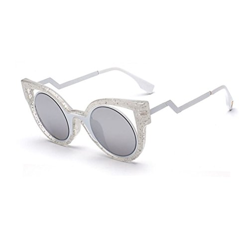 Linyuan Vintage Cat's Eye Unisex Polarizer Sunglasses Classic Designer UV400