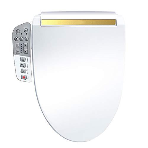 BCXGS Intelligent Toilettensitz, Dusch WC mit Düse,Seitenverkleidungs-Steuerung, Selbstreinigende Edelstahldüse, Nachtlicht, Warme Lufttrocknung, Leicht zu reinigen