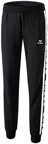 erima Damen Classic 5-C Sweathose, schwarz/weiß, 48