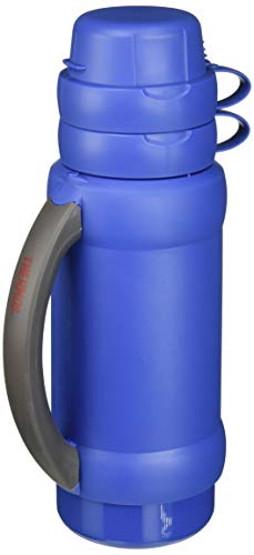 THERMOS 3410ATRI4 Add-A-Cup Beverage Bottle, 35 OZ, MULTICOLOR
