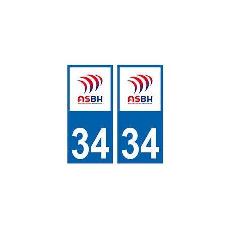 34 ASBH Aufkleber Bézier Rugby