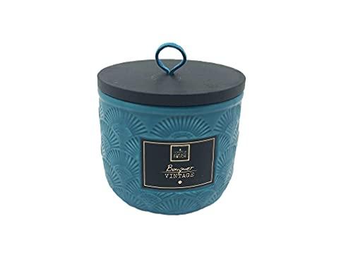 Ducomi Velas perfumadas en tarro de cristal – Idea regalo para tu casa – Perfume intenso y duradero (190 g, ramo vintage)