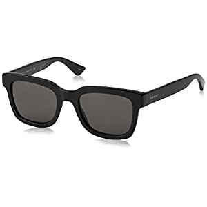 Fashion Shopping Gucci Fashion Sunglasses, 52/21/145, Black / Smoke / Black