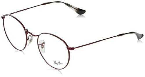 Ray-Ban Round Metal Gafas de lectura, Red, 47 Unisex Adulto