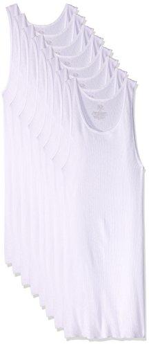 Fruit of the Loom SV8P25M Camiseta de Tirantes para Hombre, paquete de 8 unidades, color blanco, talla XL