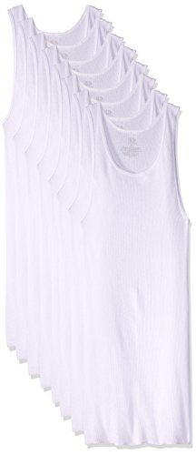 Fruit of the Loom SV8P25M Camiseta de Tirantes para Hombre, paquete de 8 unidades, color blanco, talla S