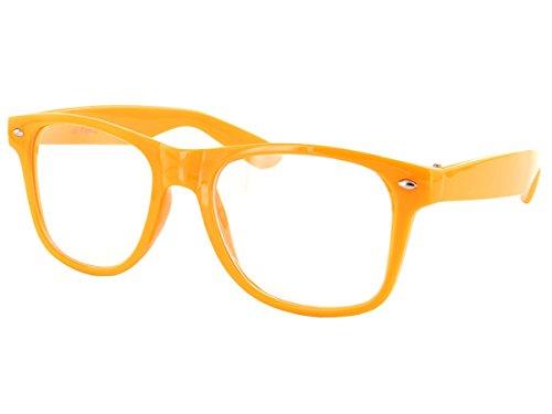 Alsino Farbige Atzen Brille Nerd klar V-816E, Farbe wählen:V-816E orange