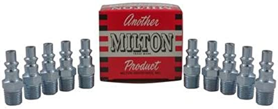 """25 Pieces Milton 777 A-Style Air Hose Fittings 1//4/"""" Male NPT Coupler Plugs"""
