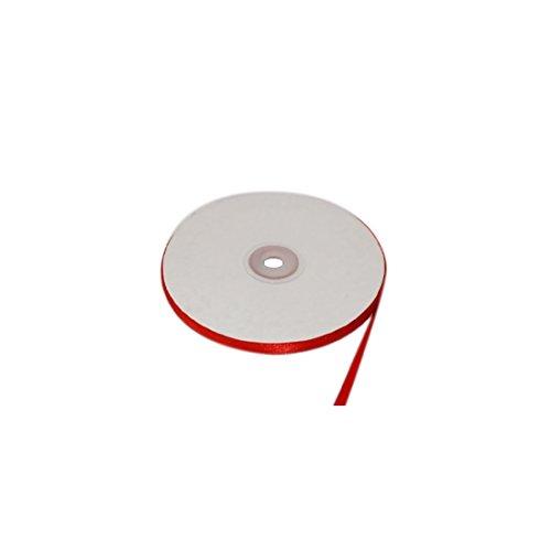 Nastro Rosso doppio raso h 06mm 50mt