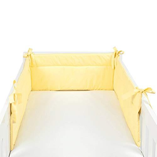 BORNINO HOME Tour de lit X-Large 32 x 210 cm tour de lit tour de lit bébé, jaune