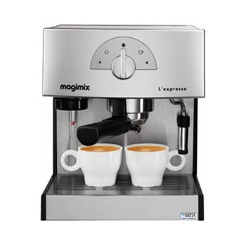 Magimix 11411 - Cafetière Expresso 19bars.1260w.moul/dose.chrome.