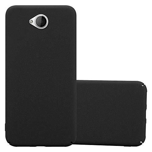 Cadorabo Custodia per Nokia Lumia 650 in FROSTY NERO - Rigida Cover Protettiva Sottile con Bordo Protezione - Back Hard Case Ultra Slim Bumper Antiurto Guscio Plastica