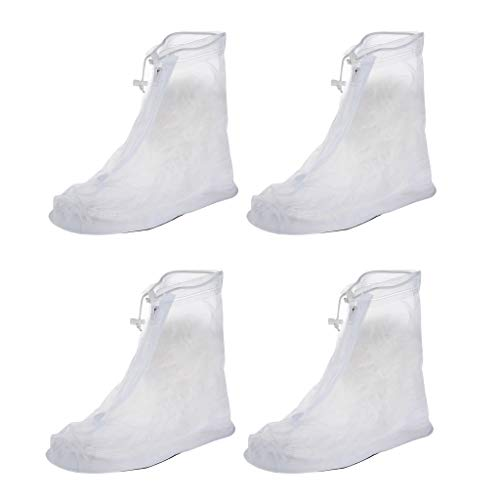 F Fityle 2 Pairs Men Women Reusable Boot Cover for Travel Cycling Fishing Walking Cycling Camping Rain Shoes Protector Gear XXL